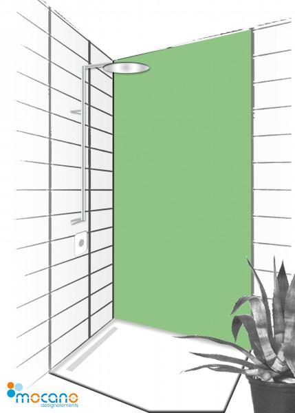 Duschrückwand Avocado 90x210cm einfarbig UNI - Wohnbeispiel