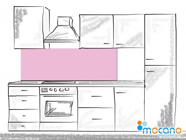 Küchenrückwand Hell Violett einfarbig UNI 180x50cm - Wohnbeispiel