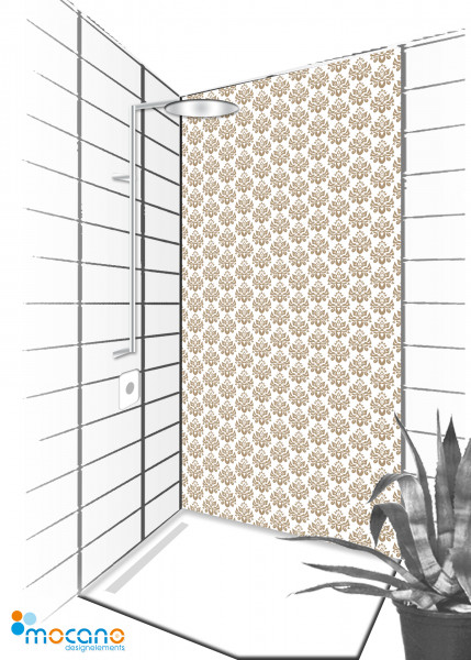 Duschrückwand Luxury Design 90x210cm - Wohnbeispiel