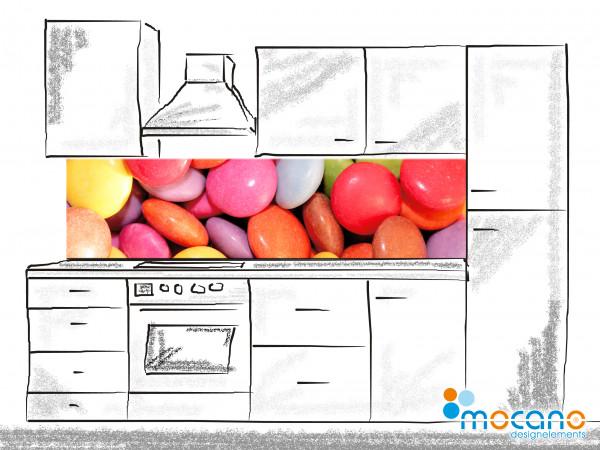 Küchenrückwand Color Bonbon 200x50cm - Wohnbeispiel