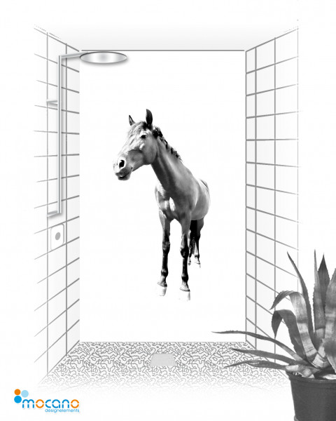 Pferd Minimal Art 120x210cm - Wohnbeispiel
