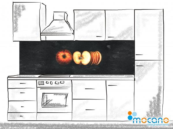 Küchenrückwand Schiefer Apfel 200x60cm - Wohnbeispiel