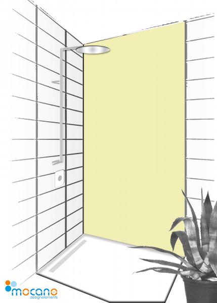 Duschrückwand Pistazie 90x210cm einfarbig UNI - Wohnbeispiel