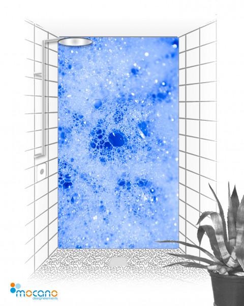 Duschrückwand Blue Blow - Wohnbeispiel