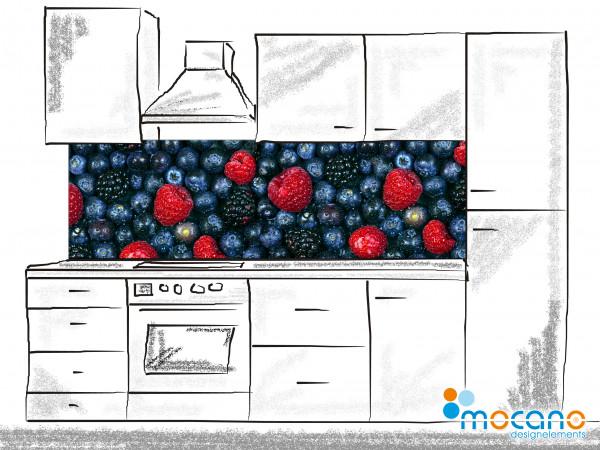 Küchenrückwand Waldfrüchte 200x60cm - Wohnbeispiel