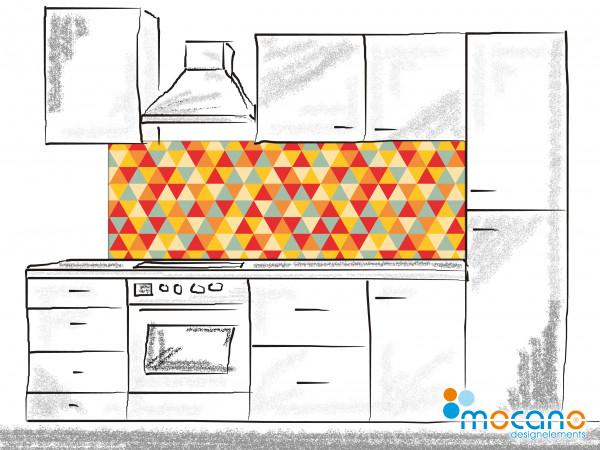 Küchenrückwand Retro Triangles 180x60cm - Wohnbeispiel