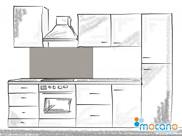 Küchenrückwand Mittel Grau einfarbig UNI 120x60cm - Wohnbeispiel
