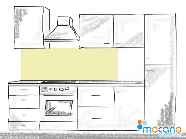 Küchenrückwand Pistazie einfarbig UNI 180x50cm - Wohnbeispiel