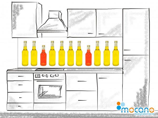 Küchenrückwand Bottle Line - 200x60cm Wohnbeispiel