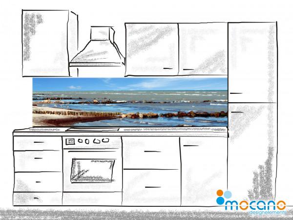 Küchenrückwand Beach Panorama 200x50cm - Wohnbeispiel