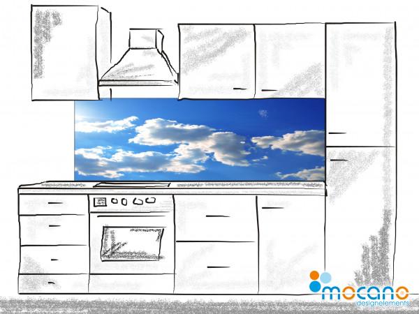 Küchenrückwand Panorama Sky 180x60cm - Wohnbeispiel