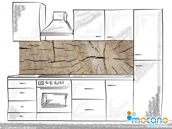Küchenrückwand Holzstruktur 4 200x60cm - Wohnbeispiel