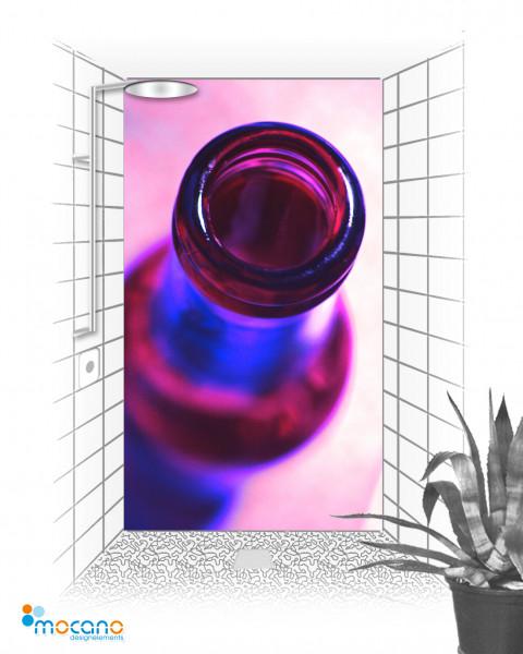 Duschrückwand Popart Bottle 120x210cm - Wohnbeispiel