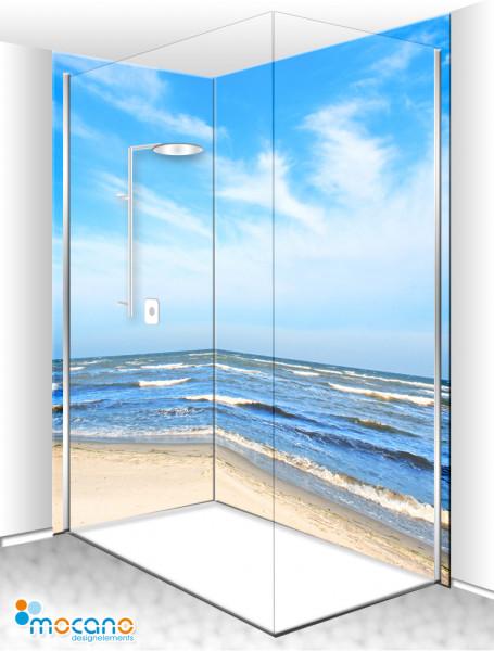 Duschrückwand Eck-Set Ostsee 4 200x210cm - Wohnbeispiel