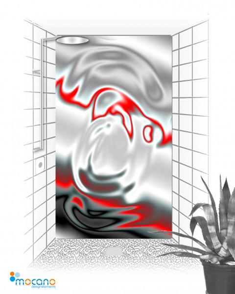 Duschrückwand Metallic Drop 120x210cm - Wohnbeispiel