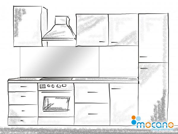 Küchenrückwand Weiß einfarbig UNI 150x60cm - Wohnbeispiel