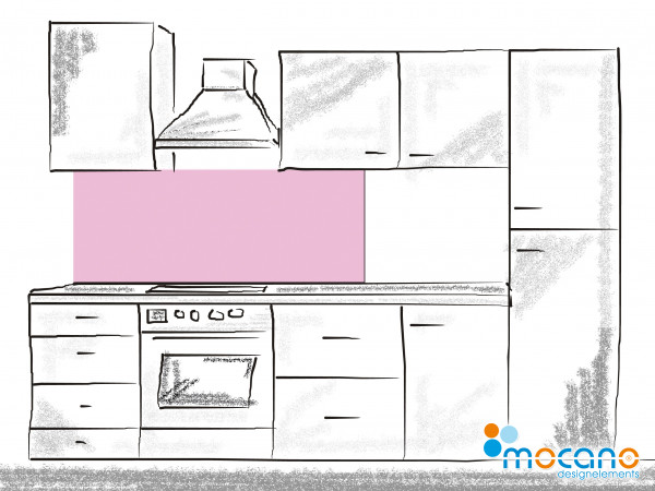 Küchenrückwand Hell Violett einfarbig UNI 150x50cm - Wohnbeispiel