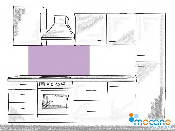 Küchenrückwand Flieder einfarbig UNI 120x50cm - Wohnbeispiel