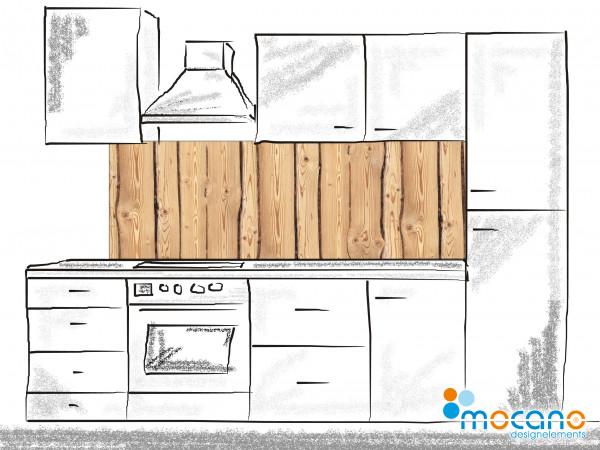 Küchenrückwand Holzoptik Rustikal 180x60cm - Wohnbeispiel