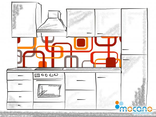 Küchenrückwand Retro Classic Line 002 - 200x60cm Wohnbeispiel
