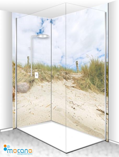 Duschrückwand Eck-Set Düne am Strand 200x210cm - Wohnbeispiel