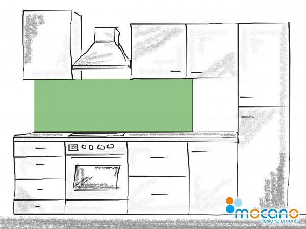 Küchenrückwand Avocado Grün einfarbig UNI 180x50cm - Wohnbeispiel
