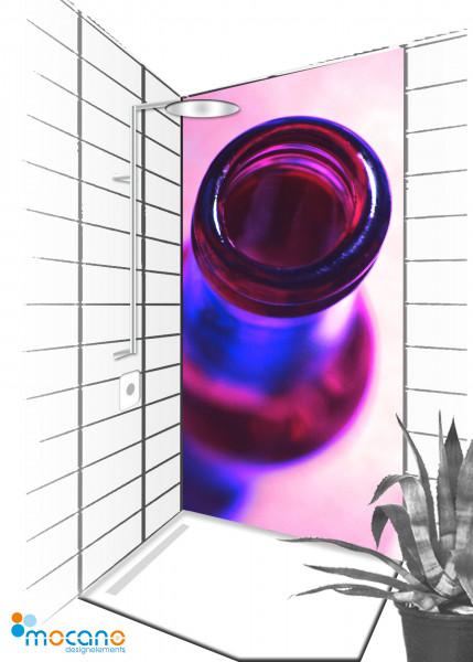 Duschrückwand Popart Bottle 90x210cm - Wohnbeispiel