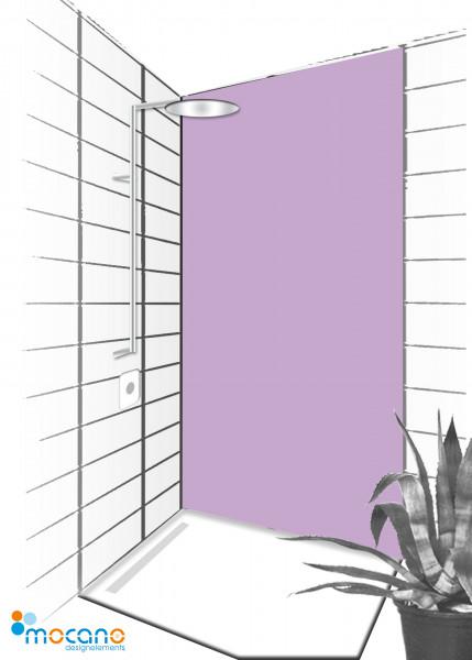Duschrückwand Flieder 90x210cm einfarbig UNI - Wohnbeispiel