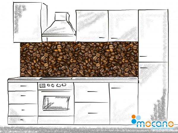 Küchenrückwand Kaffeebohnen 200x60cm - Wohnbeispiel