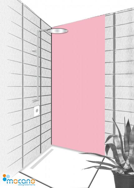 Duschrückwand Hell Rosa 80x210cm einfarbig UNI - Wohnbeispiel