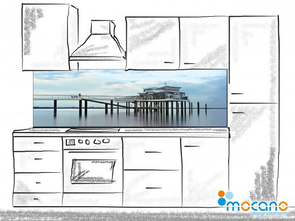 Küchenrückwand Seebrücke Timmendorfer Strand 200x60cm - Wohnbeispiel