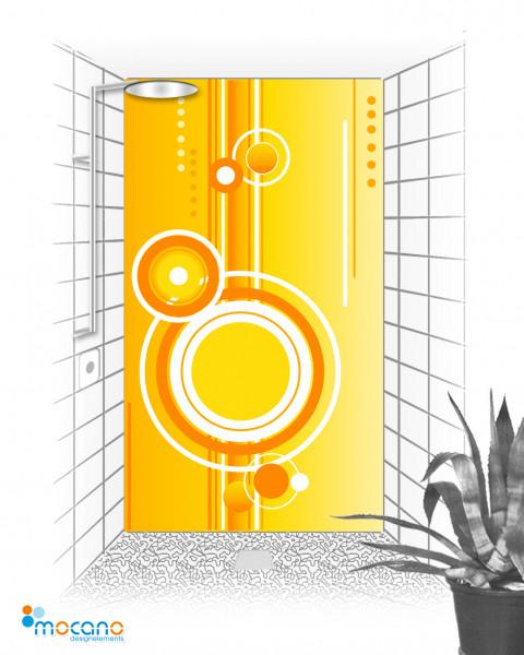 Duschrückwand Retro 5 - 120x210cm - Wohnbeispiel