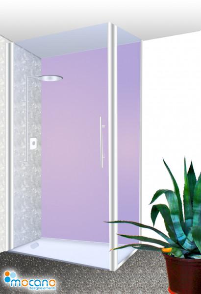 Duschrückwand Flieder einfarbig UNI - Wohnbeispiel