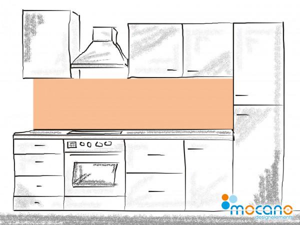 Küchenrückwand Salmon einfarbig UNI 200x50cm - Wohnbeispiel