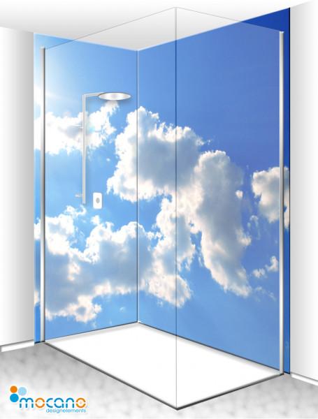 Duschrückwand Eck-Set Panorama Sky - Wohnbeispiel
