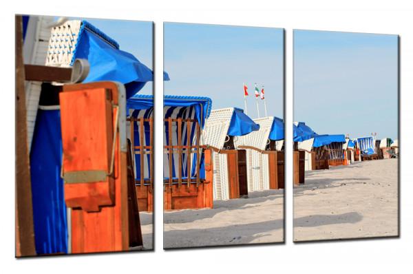 Strandkörbe 21 - Mehrteiliges Leinwandbild