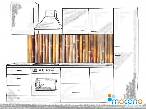 Küchenrückwand Bambus 180x60cm - Wohnbeispiel