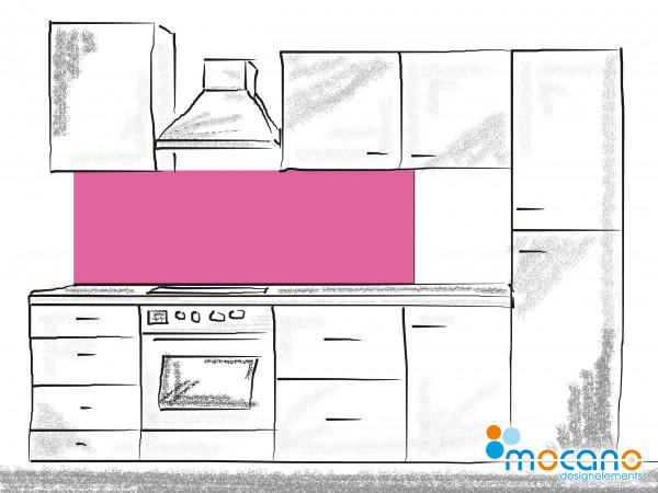 Küchenrückwand Magenta einfarbig UNI 180x50cm - Wohnbeispiel