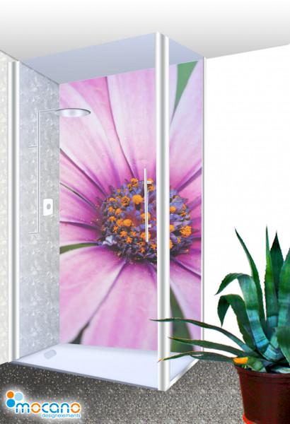 Duschrückwand - Flower Melody 72 Wohnbeispiel