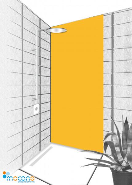 Duschrückwand Gold Gelb 80x210cm einfarbig UNI - Wohnbeispiel