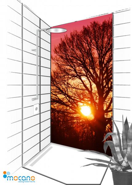 Duschrückwand Tree of Life 2 - 90x210cm - Wohnbeispiel