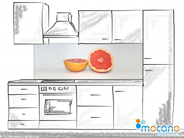 Küchenrückwand Grapefruit - 180x60cm Wohnbeispiel