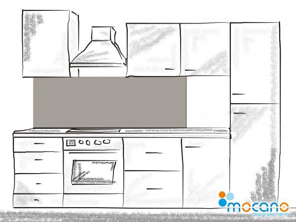 Küchenrückwand Mittel Grau einfarbig UNI 180x50cm - Wohnbeispiel