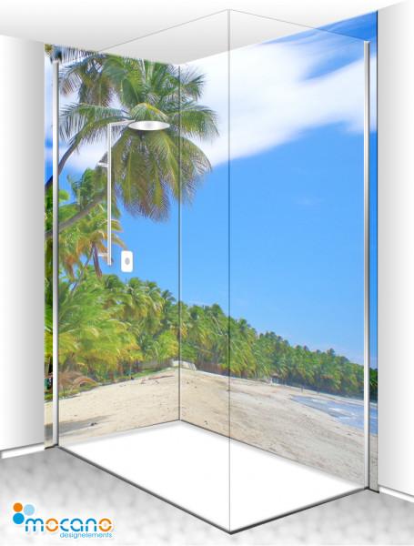 Duschrückwand Eck-Set Jacmel Haiti 200x210cm - Wohnbeispiel