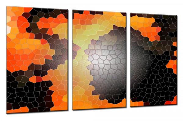 Fantasie Mosaik - Mehrteiliges Leinwandbild