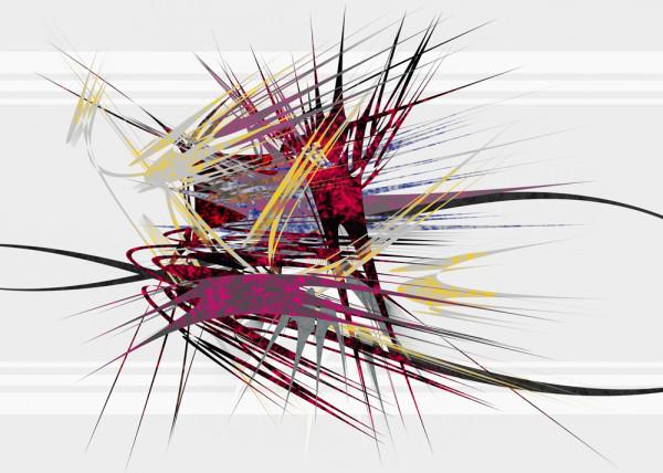 Abstrakte Line 001 Fototapete