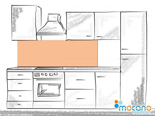 Küchenrückwand Salmon einfarbig UNI 180x50cm - Wohnbeispiel