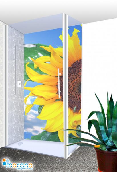 Duschrückwand - Sunflower 7 Wohnbeispiel