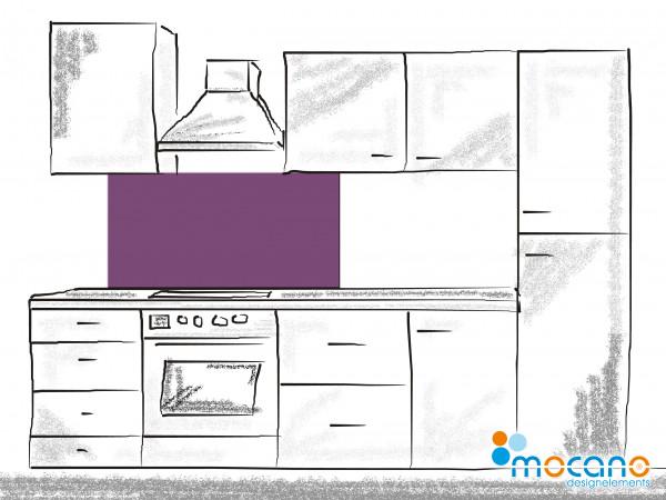 Küchenrückwand Lavendel einfarbig UNI 120x50cm - Wohnbeispiel