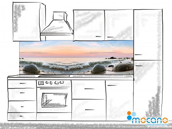 Küchenrückwand Brandung 200x60cm - Wohnbeispiel